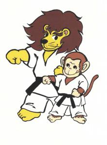 増田道場ライオンと猿 png
